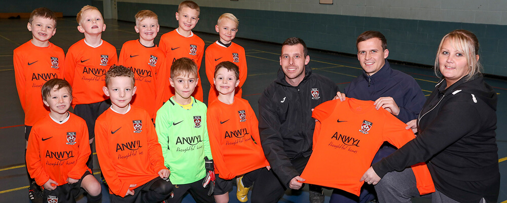 Euxton Villa FC kick off with new kits