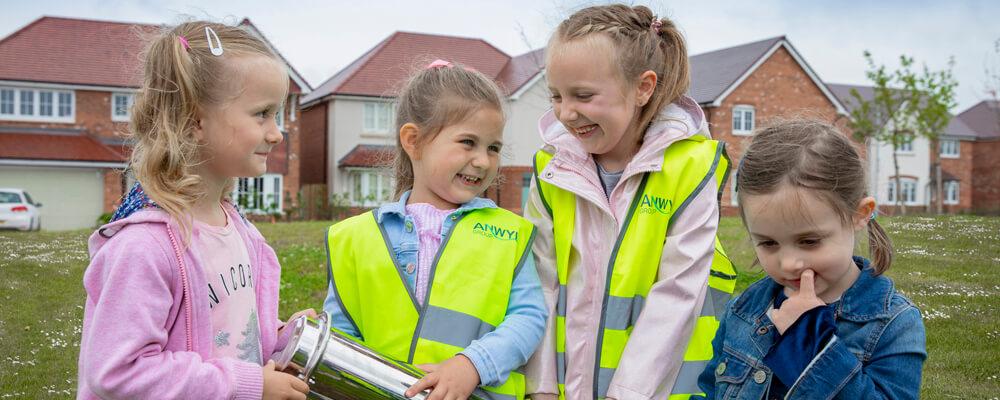 Local Children Leave Lasting Legacy At Anwyl's Abbeyfields, Sandbach Development