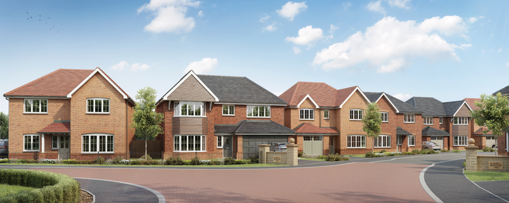 New homes spring up at Bluebell Meadows in Fulwood