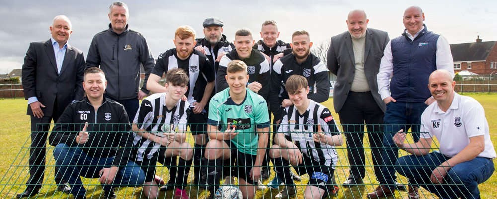 Anwyl completes treble of donations to Llay Miners FC