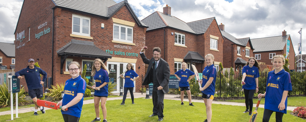 Wellington Cricket Club welcomes partnership with Anwyl Homes