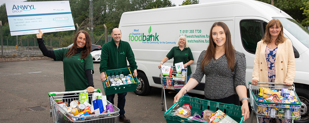 Anwyl boosts food bank charity with £53,710 donation